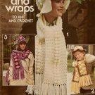 Leisure Arts 79 Caps Wraps Scarf Fisherman Rib Knitting Crochet Patterns 1976