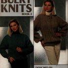 Leisure Arts 574 Bulky Knits Book 2 Knitting Patterns Pullover Aran Raglan 1987