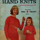 Coats Clark 123 Family Favorites Hand Knits Patterns Size 2 to 54 Sweaters 1961