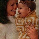 Coats Clark 213 Fashions Baby Crochet Knit Patterns Granny Square Poncho 1971
