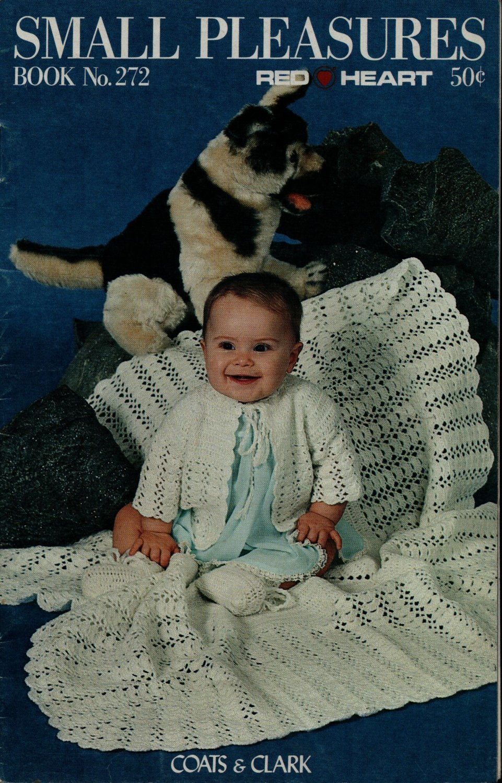 Coats Clark 272 Small Pleasures Baby Blanket Sleeper Knit Crochet Patterns 1978