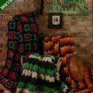 Leisure Arts 44 Classic Afghans Knit Crochet Patterns Ripple Granny Square 1974
