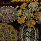 Coats Clark 174 Priscilla Doilies Crochet Knit Beaded Hairpin Tat Patterns 1967