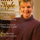 Knit n Style June 2001 Sleeveless Ribbon Tops Shell Machine Knitting Patterns