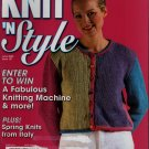 Knit n Style June 2000 Sweater Gansey Cardigan Lace Shawl Machine Knit Patterns