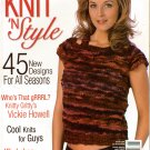 Knit n Style August 2007 Tunic Capelet Shawl Sweaters Patchwork Knitting Pattern