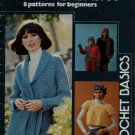 Leisure Arts 66 Crochet Basics Beginner Patterns Sweaters Shawl Hat Scarf 1976