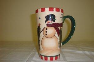 CRAZY MOUNTAIN SNOWMAN  CERAMIC CUP - LARGE MUG