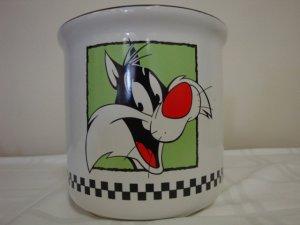 WARNER BROS. 1993 SYLVESTER THE CAT COOKIE JAR BOTTOM ONLY