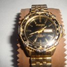 WRANGLER 6303 QUARTZ DAY-DATE WATER RESISTANT GOLD MEN'S WATCH