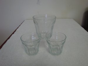 VINTAGE PALAKS PASABAHCE TURKEY ROCK GLASSES  - NUMBERED