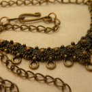 Antiqued Brass Chain with Vintage Style 9 Loop Drop Focal necklace blank