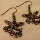 Antiqued Brass Dragonfly Chandelier Earring Blanks