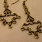Antiqued Brass Chandelier Earring Blanks