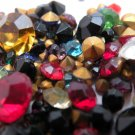 6 grams Vintage Pointy Back Rhinestones Mixed Colors and Sizes 100 plus pcs