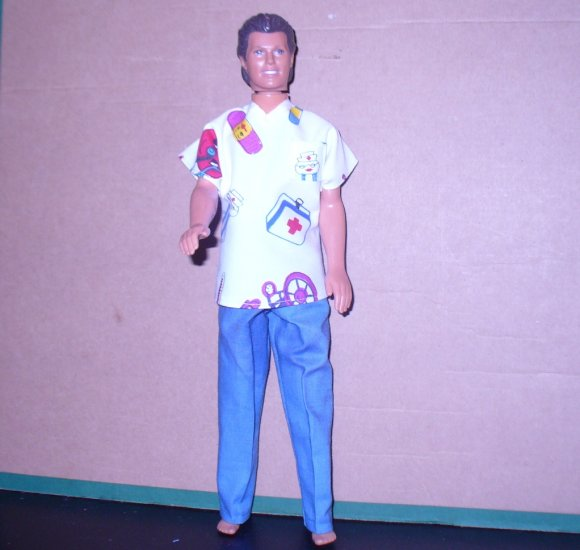 Ken Doll Clothes Handmade Hospital Scrubs