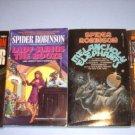 4 Spider Robinson Science Fiction Paperbacks #SR74