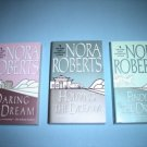 3 Nora Roberts Romance Fiction Paperbacks #NR58