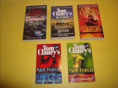 5 Tom Clancy Military Fiction Paperback           #TC78