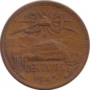 1945 20 Centavos
