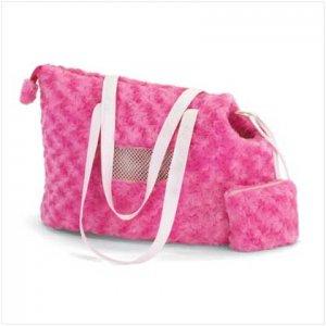 37531 Pink Plush Pet Carrier