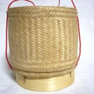 Thai Lao Rattan and Bamboo Sticky Rice Serving Basket #SCR