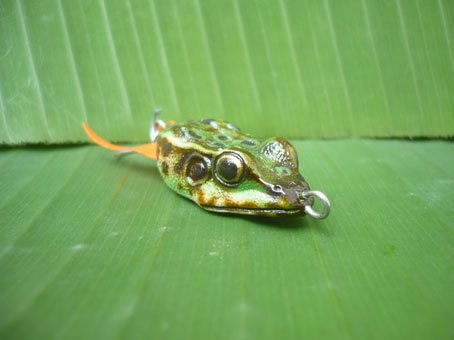 Handmade : Small Green Frog TopWater Fishing Lure