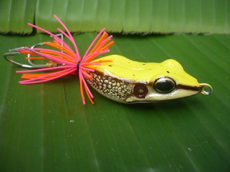 Handmade : Killer Frog TopWater Fishing Lure #Yellow