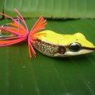 Handmade : Killer Frog TopWater Fishing Lure #Yellow