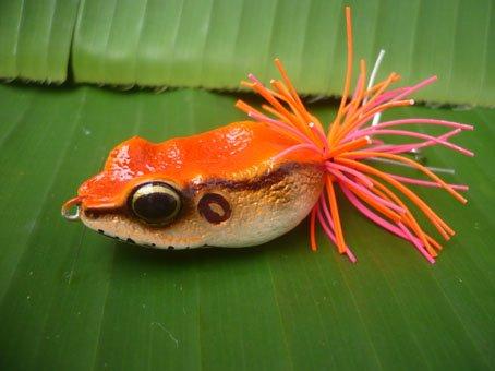 Handmade : ฺBig Eye Frog TopWater Fishing Lure #Red