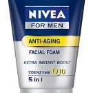 Nivea for Men  Anti-Aging Instant Boost Q10 foam (100g)