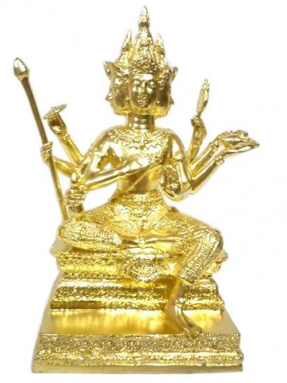"Pra Phrom 4 Face/ Brahma  Hindu God Gilded Statue  : Size 11""x6"""