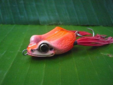 Handmade : Small Happy Frog Topwater Fishing Frog Lure #SRC