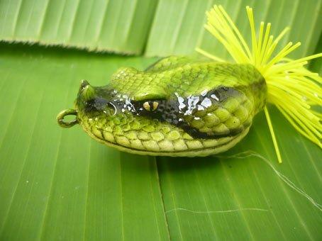 Handmade : Snake Head TopWater Fishing Lure #CG