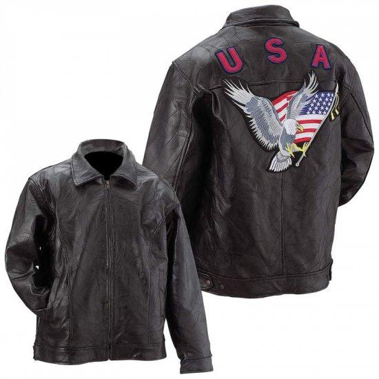Genuine Leather Men's Eagle Jacket