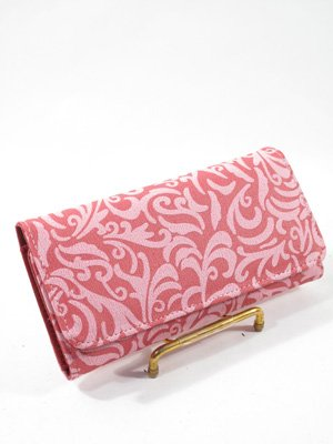 Pink Paisley checkbook wallet