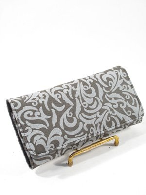 checkbook wallet - Grey Paisley