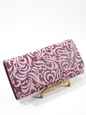 purple paisley checkbook wallet - Bagista Arm Candy