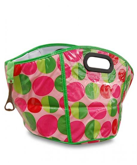 Pink and Green die-cut handle cooler