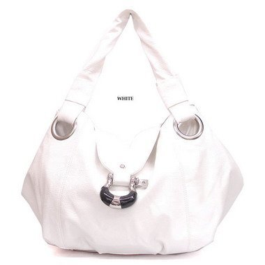 White Buckle shoulder handbag