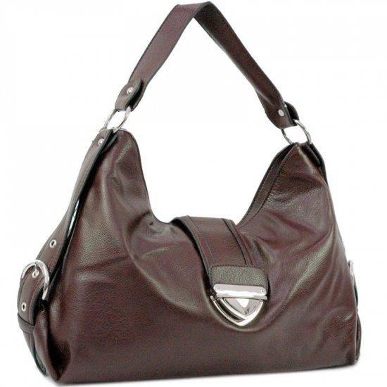 Brown Buckled Hobo handbag purse shoulder bag