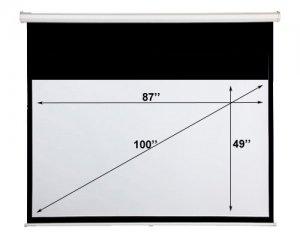 Motorized 100� Screen (87�x49�) 16:9 Formats