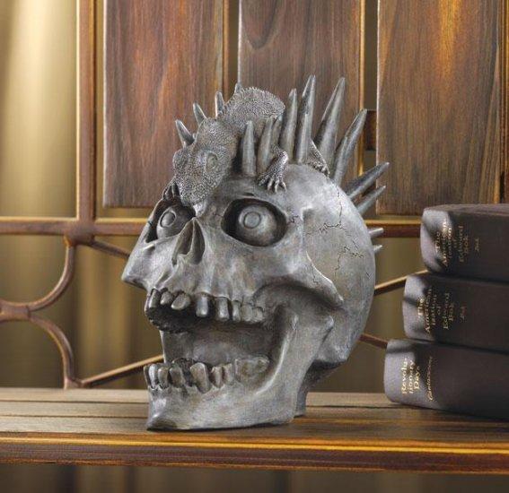 Punk-rock Skull Figurine