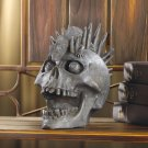 Punk-rock Skull Figurine