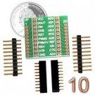 XBee Breakout Board Kit - 10 Pack