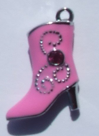Pink Cowgirl Boot Charms