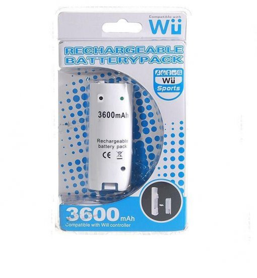 3600mAh Rechargeable Battery for Wii Controllers