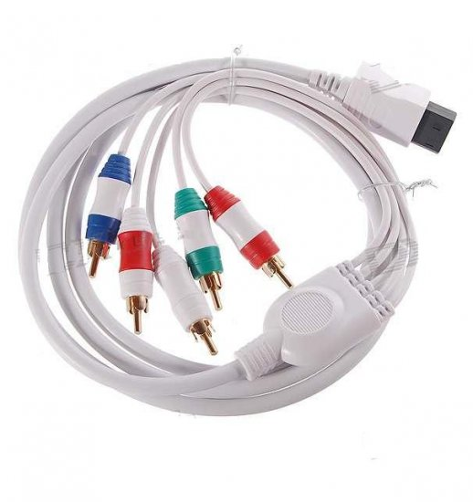 Gold Plated Component Video and Audio AV Cable for Wii - White (1.8M Length)