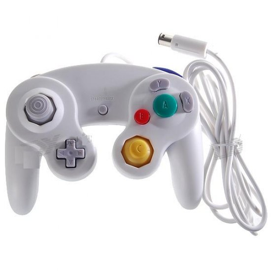 Wired Shock Game Controller for Nintendo GameCube NGC and Wii (White)