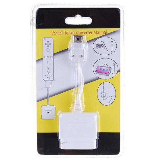 Playstation 2 PS2 to Wii Controller Adapter (13.5CM-Cable)